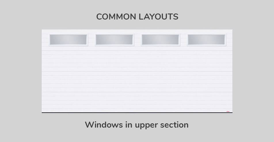 Common layouts, Windows in upper section